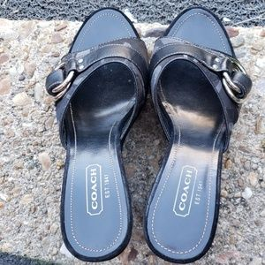 Coach style Meredith wedge sandals size 8M